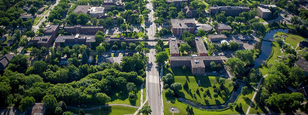 UND aerial view