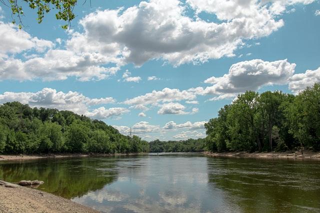 Photo of the Mississippi river near Fort Snelling & Minnehaha, Minnesota